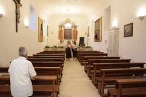 Unutrašnjost crkve sv. Mihajla u Lapadu / Foto: Hina