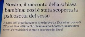 Naslov u listu La Stampa / Foto: Fenix (Preslik)