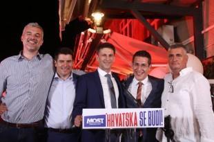 Članovi Mosta nakon izbornih rezultata / Foto: Hina