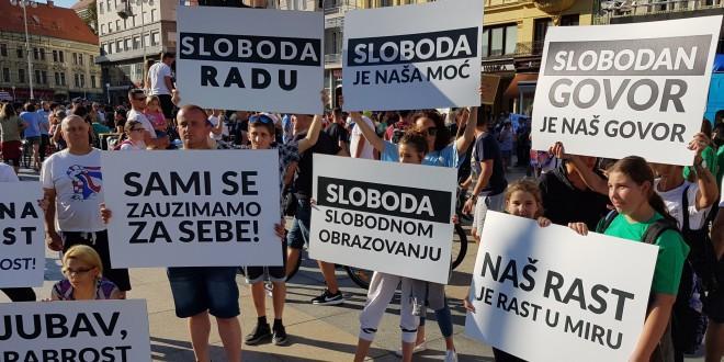 """VIŠE TISUĆA LJUDI OKUPILO SE U ZAGREBU: """"Festival slobode"""" protiv mjera za  suzbijanje koronavirusa - Fenix Magazin"""