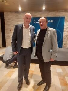 Gianni Infantino i Fenixov dopisnik Ivan Barišić / FotO: Fenix