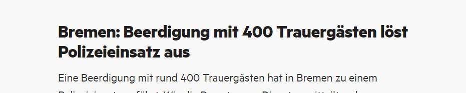 Njemački mediji pišu o policijskoj intervenciji na pogrebu