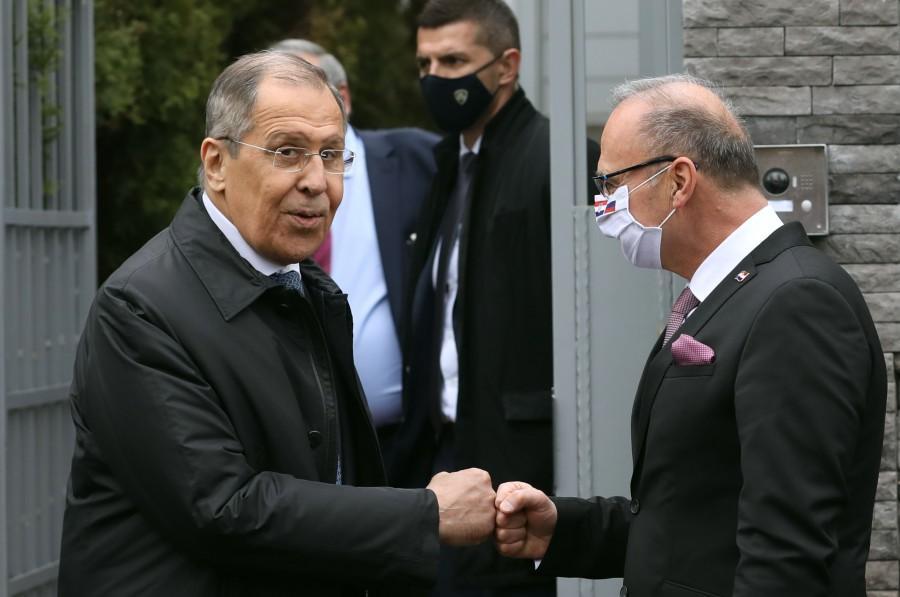 Ruski ministar vanjskih poslova Sergej Lavrov i hrvatski ministar vanjskih i europskih poslova Gordan Grlć Radman / Foto: Hina