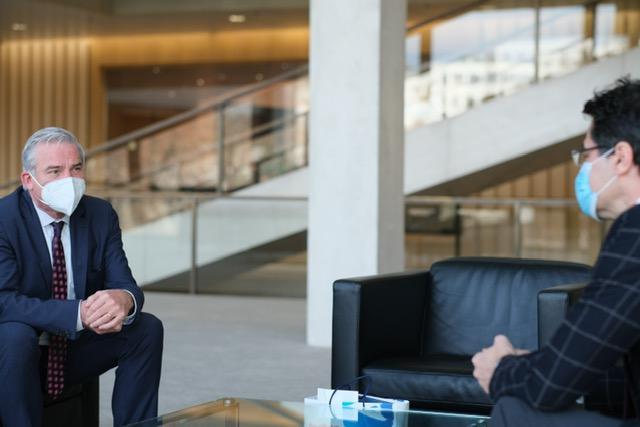 Ministar Thomas Strobl i generalni konzul Ivan Sablić / Foto: Fenix