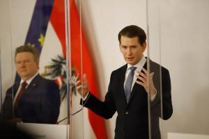 Kancelar Kurz i bečki gradonačelnik Ludwig (u pozadini)/Foto: Fenix (S.H./Z.Cindrić)