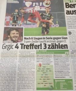 Preslik pisanja švicarskih medija o Grgiću/ Foto: Preslik FM