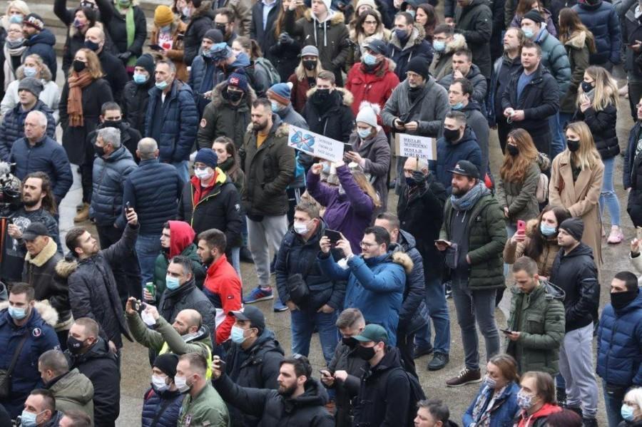 Prosvjedni skup u Zagrebu / Foto: Hina