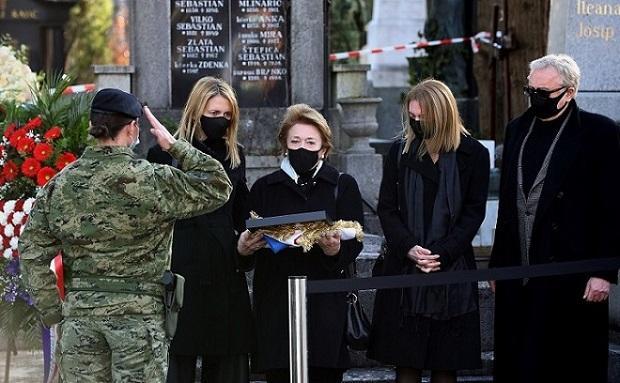 Obitelj Tuđman na posljednjem ispraćaju / Foto: Hina